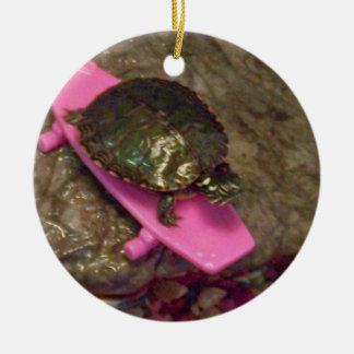 Prydnad för glidaresköldpaddajul julgransprydnad keramik