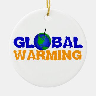 Prydnad för global värme julgransprydnad keramik