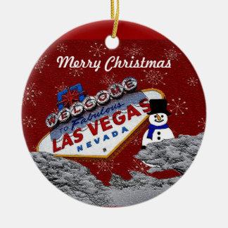 Prydnad för god julLas Vegas snögubbe Julgranskula