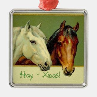 Prydnad för hästhumorjulgran julgransprydnad metall