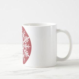 Prydnad för helgdag för julSnowflake | Vit Mugg