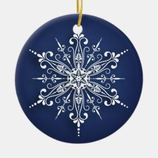 Prydnad för helgdagSnowflakejulgran Julgransprydnad Keramik
