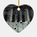 Prydnad för hjärtapianotangentbord juldekoration