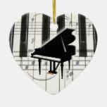 Prydnad för hjärtapianotangentbord jul dekorationer