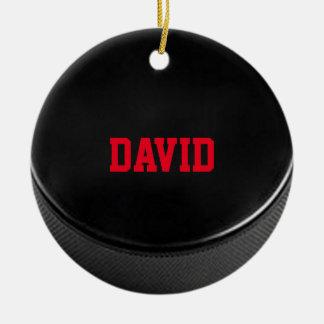 Prydnad för hockeyälskarepersonlig julgransprydnad keramik