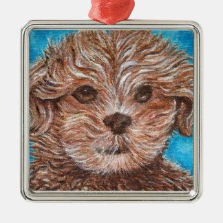 Prydnad för hund för Shih Tsu-valp Julgransprydnad Metall