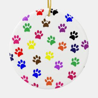 Prydnad för hundar för kärlek för husdjur för julgransprydnad keramik
