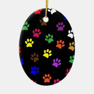 Prydnad för husdjur för tasstryckhund färgrik julgransprydnad keramik