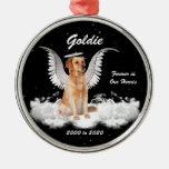 Prydnad för jul för ängelhundpersonlig minnes- juldekoration