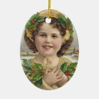 Prydnad för jul för flicka för VictorianErajärnek Julgransdekoration