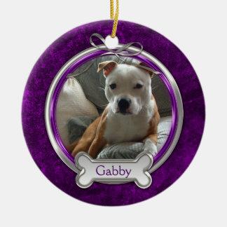Prydnad för jul för foto för husdjur för julgransprydnad keramik