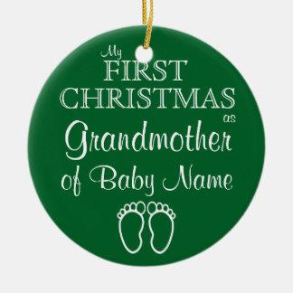 Prydnad för jul för personligfarmor första julgransprydnad keramik