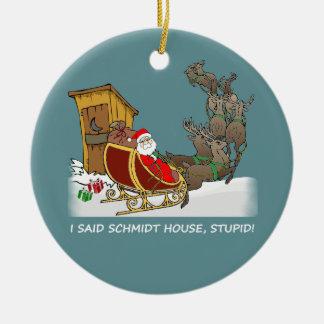 Prydnad för jul för Schmidt hus rolig Rund Julgransprydnad I Keramik