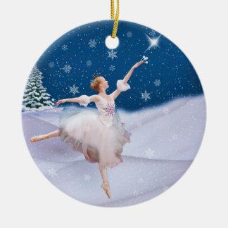 Prydnad för jul för snödrottningBallerina Julgransprydnad Keramik