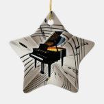 Prydnad för julafton för jul för stjärnapianotange juldekoration