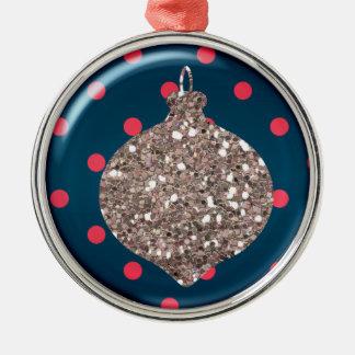 Prydnad för julprydnadboll rund silverfärgad julgransprydnad