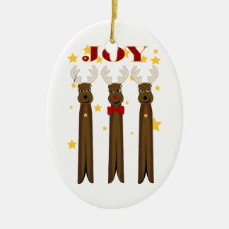 Prydnad för julrenglädje ovalformad julgransprydnad i keramik