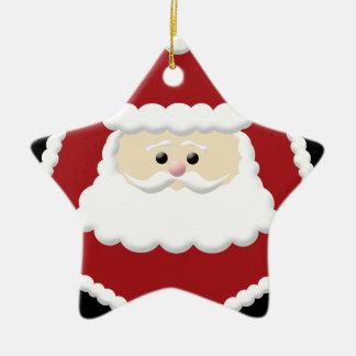 Prydnad för jultomtenfotoram julgransprydnad keramik
