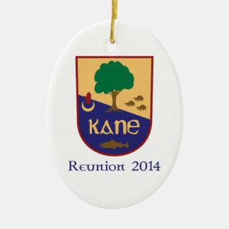 Prydnad för Kane familjmöte 2014 Ovalformad Julgransprydnad I Keramik