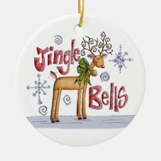 Prydnad för klirrKlockor jul - gullig ren Julgranskulor