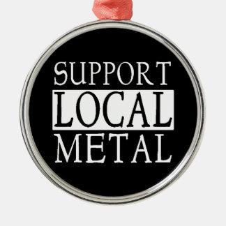 Prydnad för lokalmetalljul julgransprydnad metall