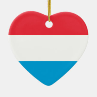 Prydnad för Luxembourg flaggahjärta Julgransprydnad Keramik