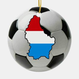 Prydnad för Luxembourg fotbollfotboll Rund Julgransprydnad I Keramik