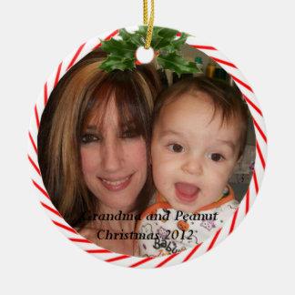 Prydnad för mormor- och jordnötjul 2012 julgransprydnad keramik