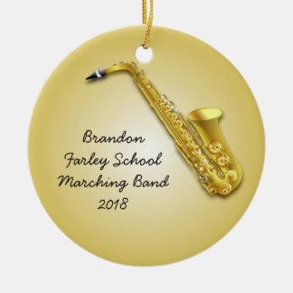 Prydnad för musiker för foto för saxofonspelare julgransprydnad keramik