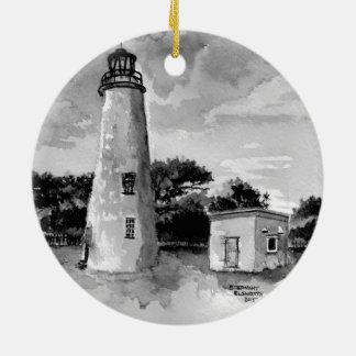 Prydnad för Ocracoke öfyr Julgransprydnad Keramik