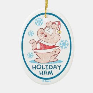 Prydnad för PERSONLIG för U.S.Acres-helgdagskinka Julgransprydnad Keramik