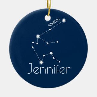 Prydnad för personligAquariuskonstellation Julgransprydnad Keramik