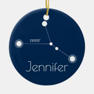 Prydnad för personligcancerkonstellation julgransprydnad keramik