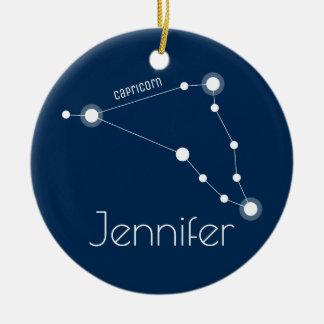 Prydnad för personligCapricornkonstellation Julgransprydnad Keramik