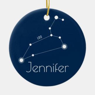 Prydnad för personligLeo konstellation Julgransprydnad Keramik