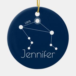 Prydnad för personligLibrakonstellation Julgransprydnad Keramik