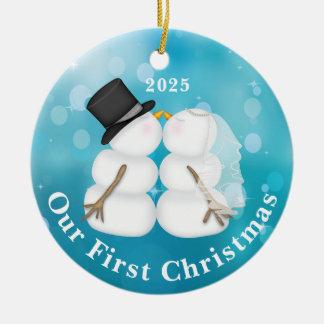 Prydnad för personlignygift personjul julgransprydnad keramik
