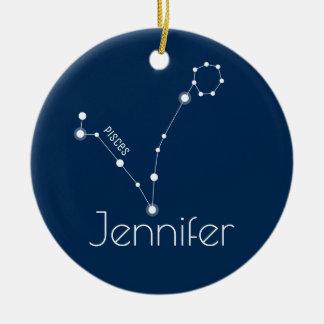 Prydnad för personligPisces konstellation Julgransprydnad Keramik