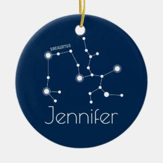 Prydnad för personligSagittariuskonstellation Julgransprydnad Keramik