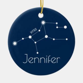 Prydnad för personligvågkonstellation julgransprydnad keramik