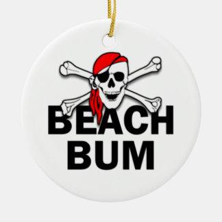 Prydnad för pirat för skalle för julgransprydnad keramik