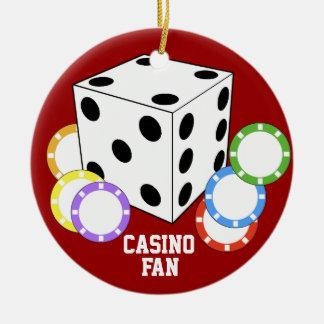 Prydnad för poker för kasinofläktkärlek julgransprydnad keramik