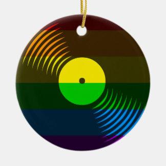 Prydnad för rekord för vinyl för Corey tiger80-tal Julgransdekoration