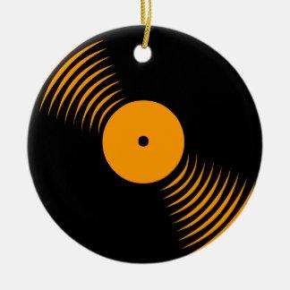 Prydnad för rekord för vinyl för Corey tiger80-tal Julgranskula
