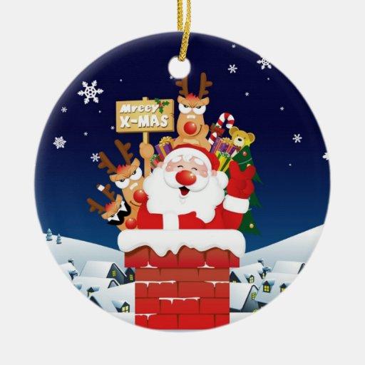"""Prydnad för Santa & ren"""" mreeyx-mas"""" jul Julgransdekorationer"""