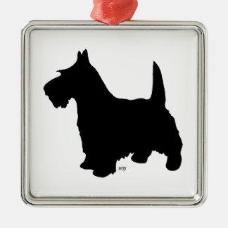Prydnad för ScottiehundSilhouette Julgransprydnad Metall