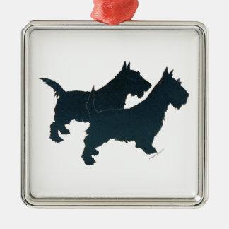 Prydnad för ScottiehundSilhouettes Julgransprydnad Metall