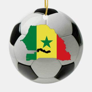 Prydnad för Senegal fotbollfotboll Julgransprydnad Keramik