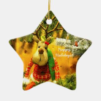 """Prydnad för stjärna """"för Chump"""" glad helg keramisk Stjärnformad Julgransprydnad I Keramik"""
