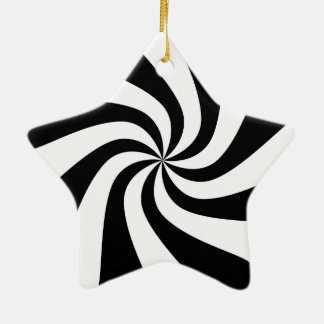 Prydnad för träd för stjärna för svart- & julgransprydnad keramik